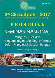 Abstrak prosiding communication, economic, law, science, and technology 2nd 2017